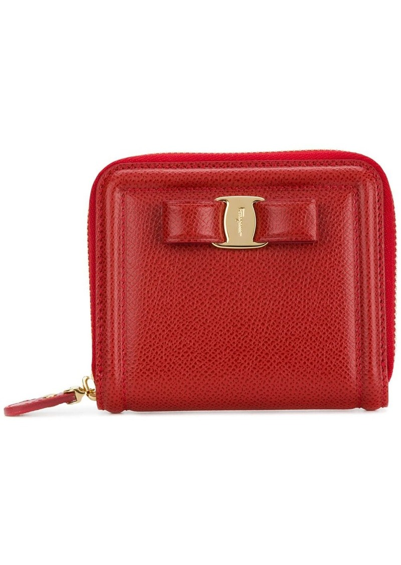 Ferragamo Vara bow zip wallet