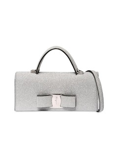 Ferragamo Vara Glittered Shoulder Bag