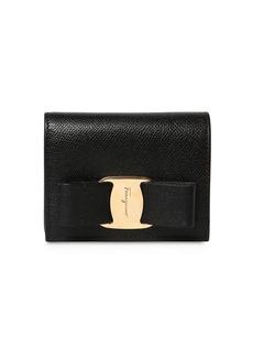 Ferragamo Vara Grained Leather Compact Wallet