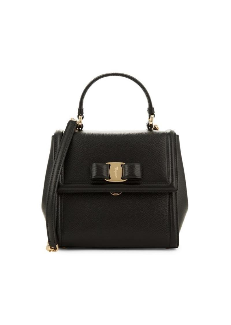 Ferragamo Vara Leather Top Handle Bag