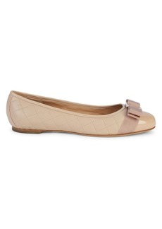 Ferragamo Varina Quilted Leather Ballet Flats