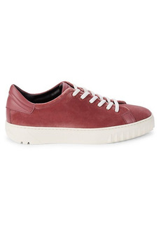 Ferragamo Velvet & Leather Low-Cut Sneakers