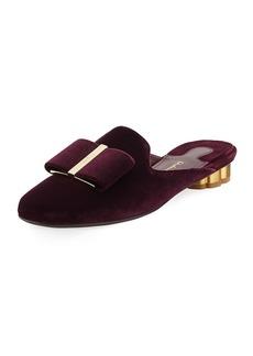 Ferragamo Velvet Bow Mule Slide Loafer