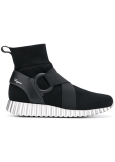 Ferragamo Wave hi-top sneakers