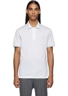 Ferragamo White Logo Polo