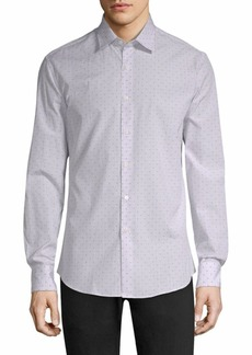 Ferragamo Windowpane Check Button-Down Shirt