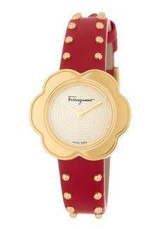 Ferragamo Women's Fiore Leather Strap Watch, 30mm