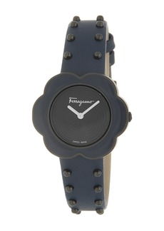 Ferragamo Women's Fiore Studded Leather Strap Watch, 30mm