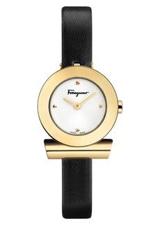 Women's Salvatore Ferragamo Gancino Leather Bracelet Watch
