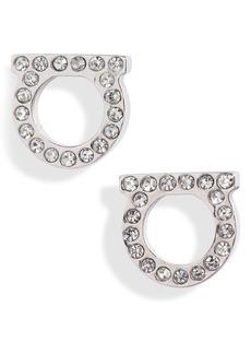 Women's Salvatore Ferragamo Pave Gancio Stud Earrings