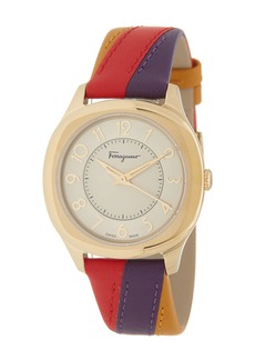 Ferragamo Women's Time Interchangeable Leather Strap Watch, 36mm