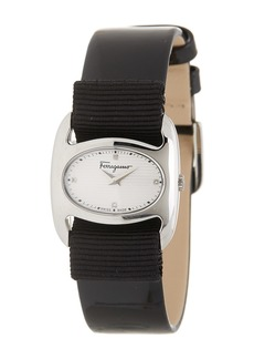 Ferragamo Women's Verina Diamond Leather Interchangeable Strap Watch, 26mm