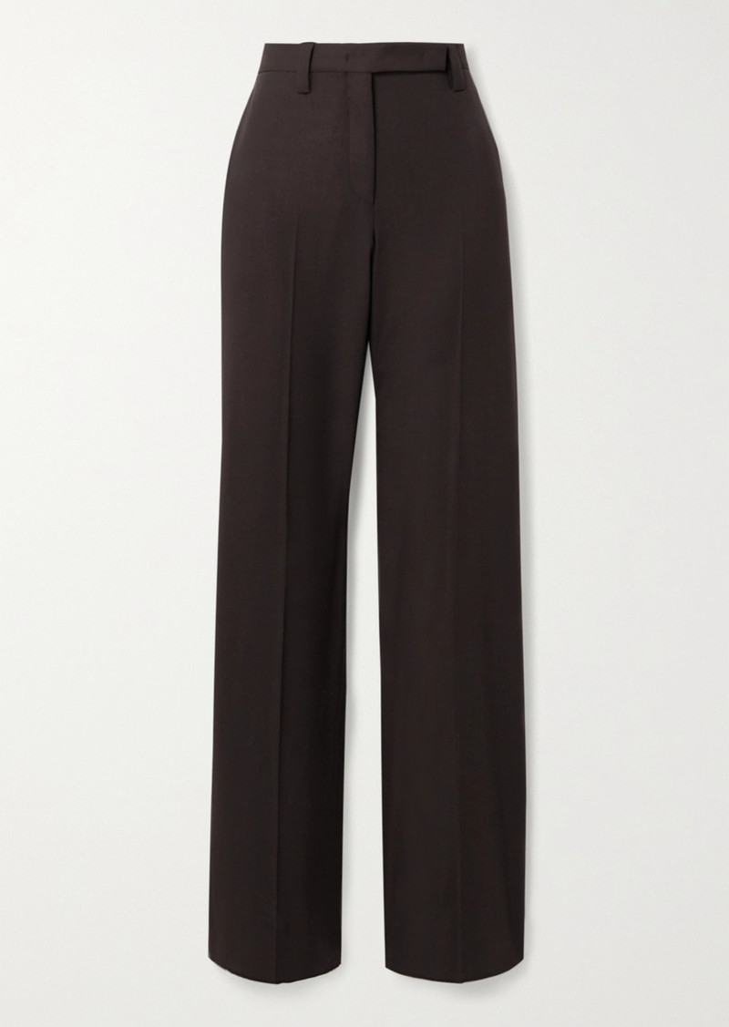 Ferragamo Wool-twill Straight-leg Pants