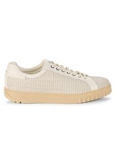 Ferragamo Woven Leather Platform Sneakers