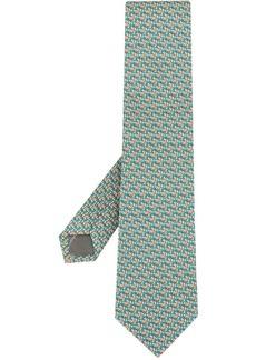 Ferragamo zebra-print tie