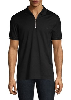 Ferragamo Zip Basic Cotton Polo