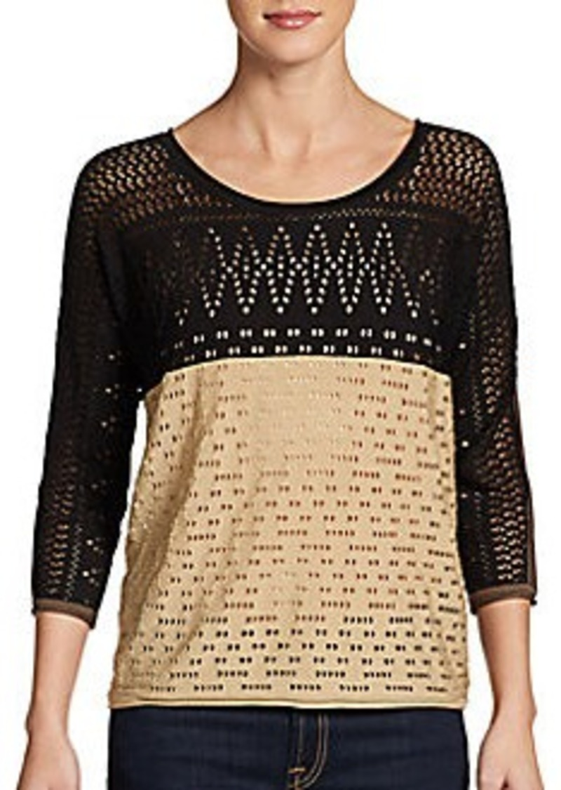 Catherine Malandrino Francesca Two-Tone Sweater