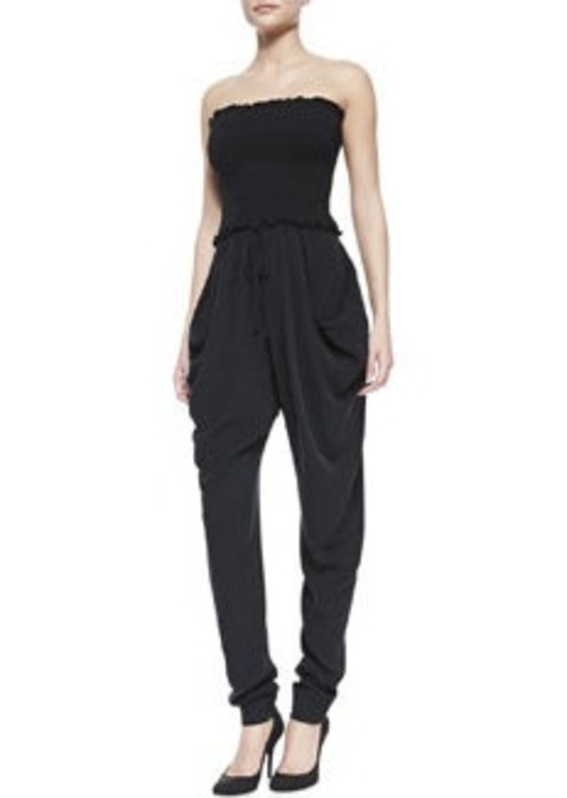 Catherine Malandrino Silk Strapless Slouchy Jumpsuit   Silk Strapless Slouchy Jumpsuit