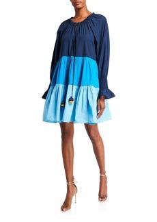 Figue Bella Colorblocked Short Cotton Dress