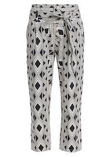 Figue Bohemian Rhapsody Portia Twill Diamond Printed Pants