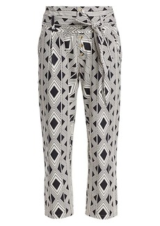 Figue Bohemian Rhapsody Portia Twill Diamond Printed Pants