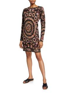 Figue Alanis Geo-Pattern Sweater Dress