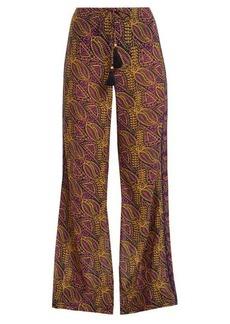 Figue Estela paisley-print cotton-blend trousers