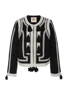 Figue Harrison Tasseled Embroidered Cotton Jacket