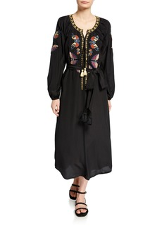 Figue Lana Butterfly-Embroidered Dress