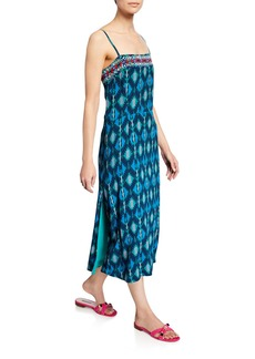 Figue Olatz Iznik Ikat-Print Long Cami Dress