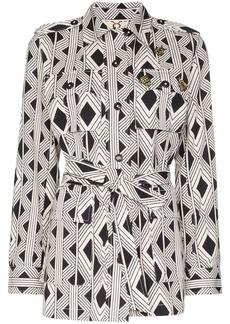 Figue geometric print jacket