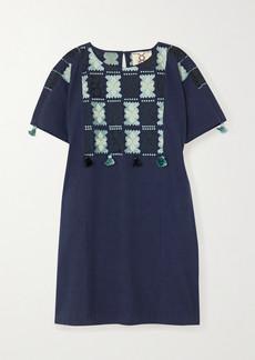 Figue Lucia Embroidered Cotton Mini Dress