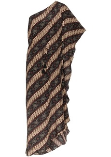 Figue Maisie batik-print striped dress