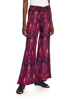 Figue Saanchi Dylan Ikat Flare-Leg Pants
