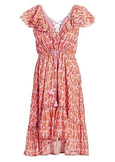 Figue Tahlia Ruffle High-Low Dress