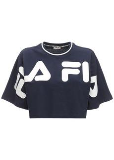 Fila Bar Logo Cotton Cropped T-shirt