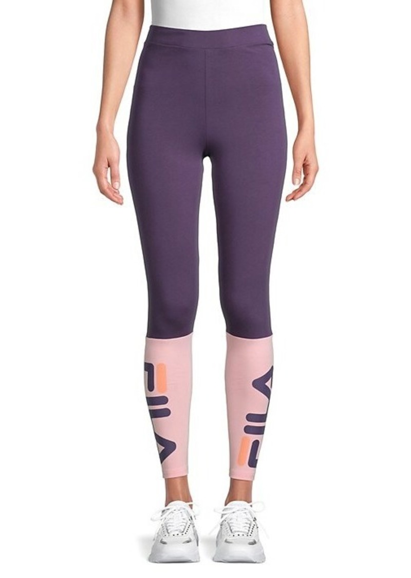 Fila Colorblock Stretch-Cotton Leggings