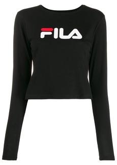 Fila cropped logo print top