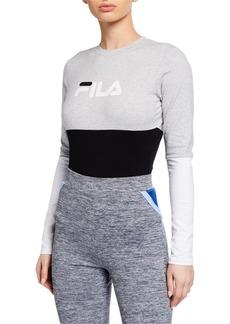 Fila Elena Long-Sleeve Cotton Bodysuit
