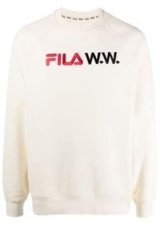 Fila embroidered-logo cotton-blend sweatshirt