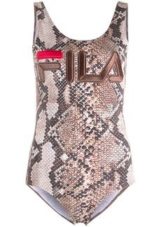 Fila Emiko snakeskin print bodysuit