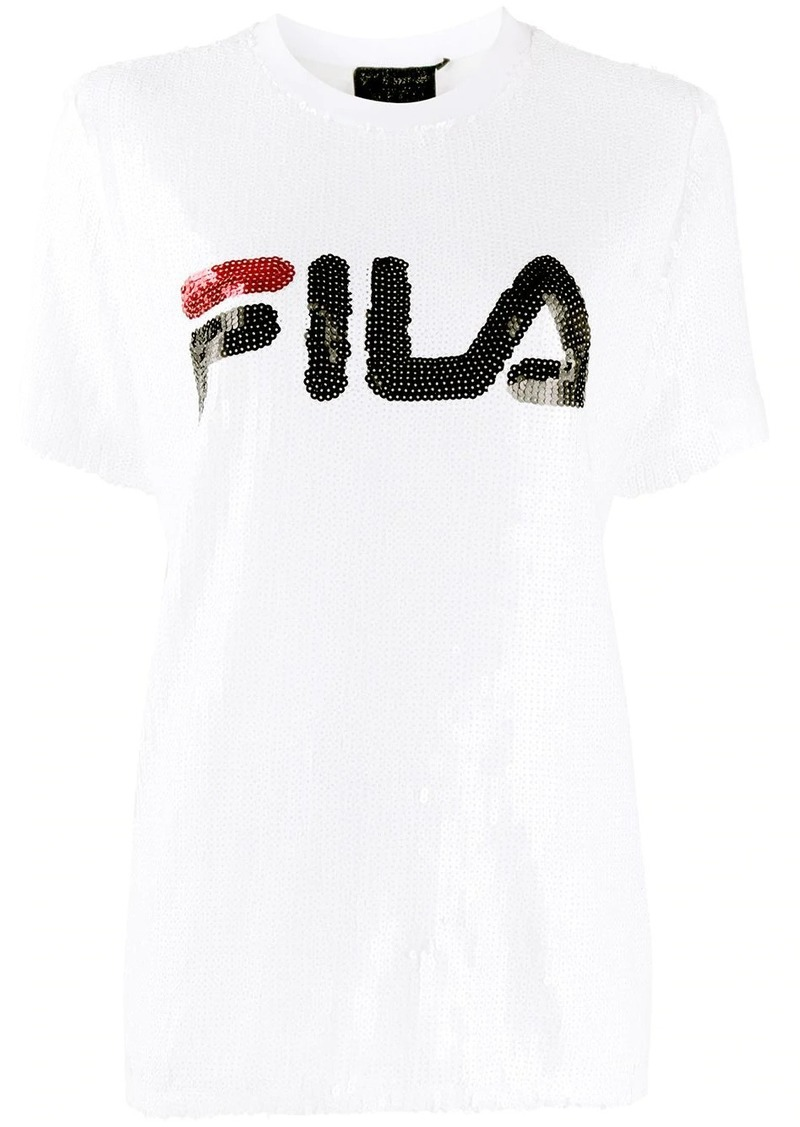 Fila sequin embroidered logo T-shirt