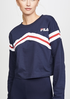 Fila Aja ZigZag Long Sleeve Crop Tee