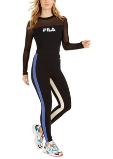 Fila Carole Mesh-Trimmed Long-Sleeve Top