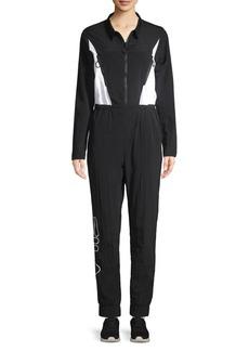 FILA Colorblock Zip-Front Jumpsuit