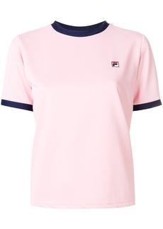 Fila contrast logo T-shirt - Pink & Purple
