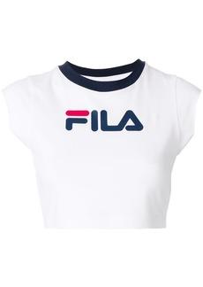 Fila cropped logo T-shirt - White