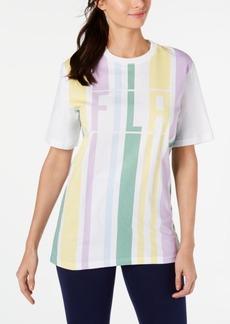 Fila Dulce Cotton Striped Logo T-Shirt