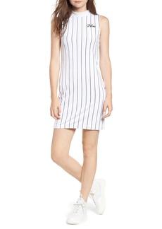 FILA Esme Pinstripe Velour Dress