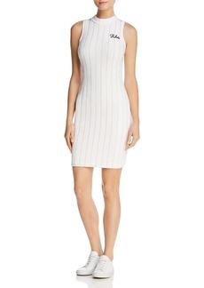FILA Esme Striped Velour Dress